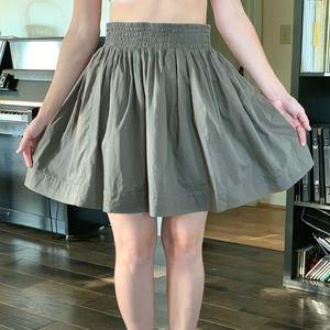 Banana Republic Brown Gathered Skirt, Size 0P